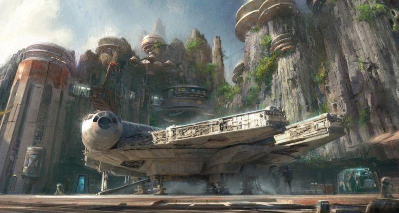 Date una vuelta en el Millennium Falcon por la ciudad de Star Wars