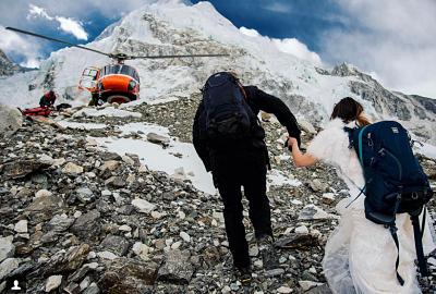 decidieron casarse en la cima del Monte Everest