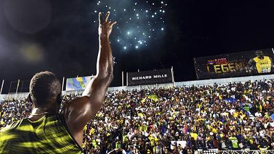 Usain Bolt se retiró ante su público