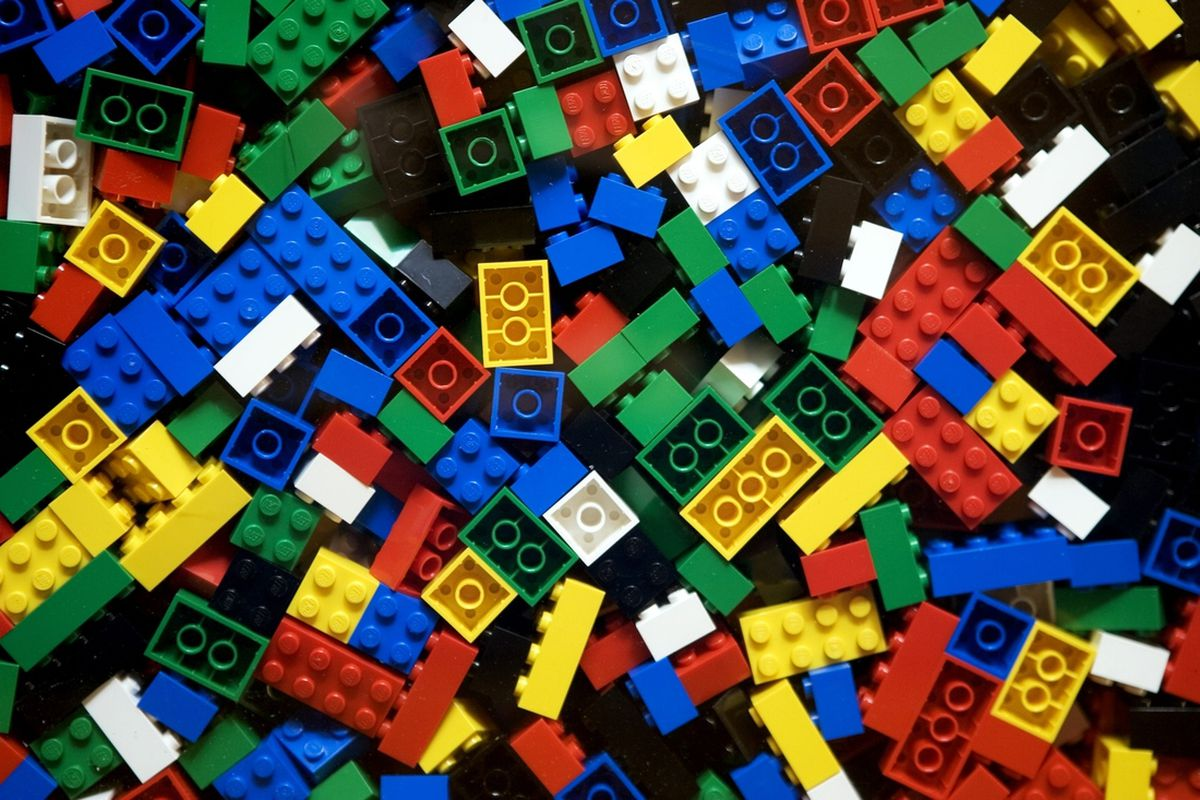 Un rascacielos de lego
