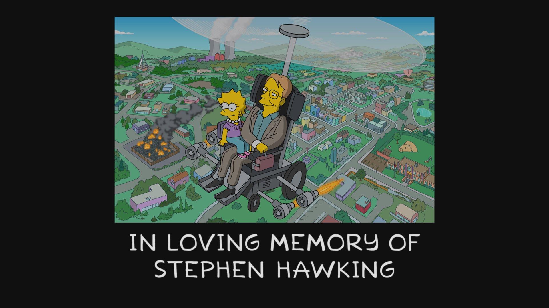 los Simpson homenajearon a Stephen Hawkin