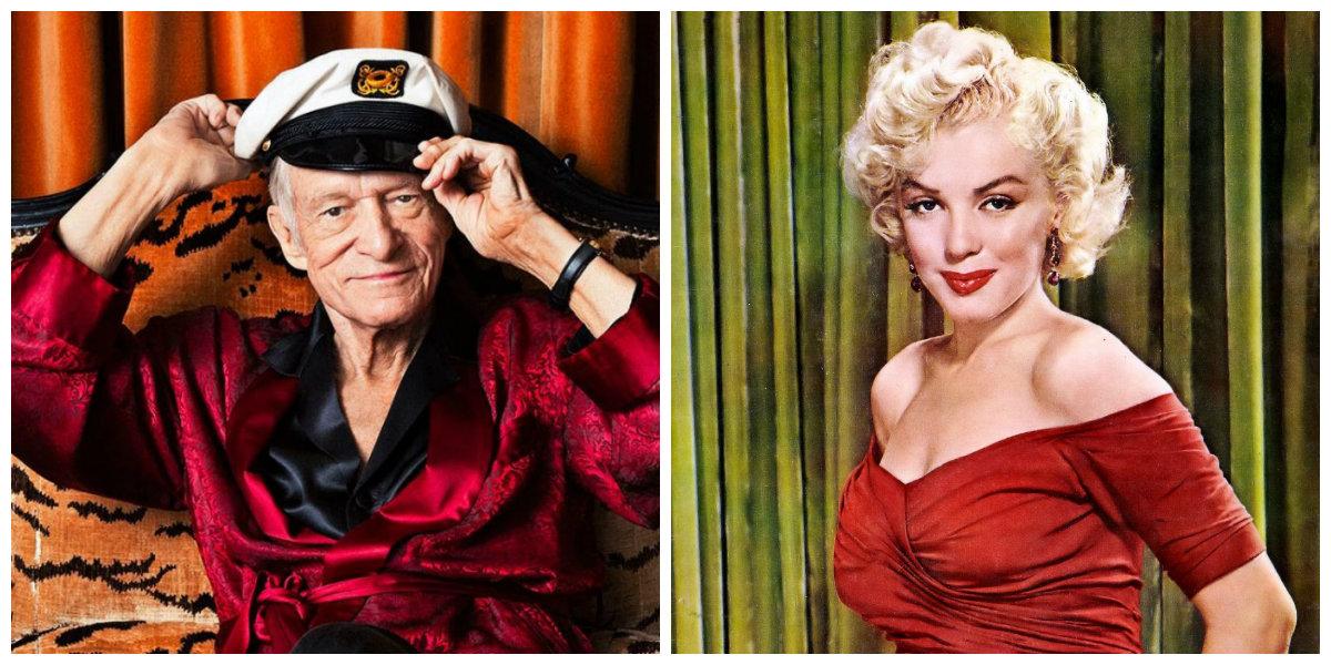 Hugh Hefner y Marilyn Monroe