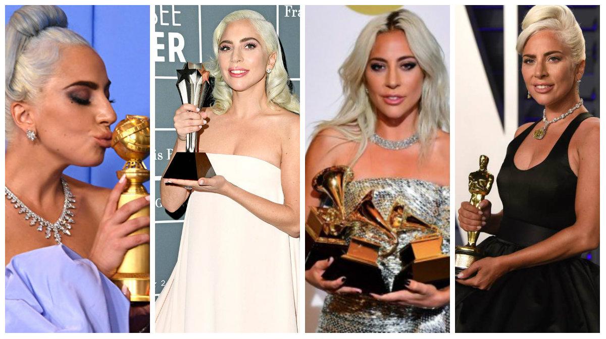 Lady Gaga hace historia con cinco premios en un año – Gamba FM